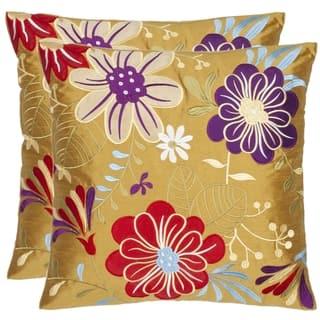 Safavieh Japan Garden 18-inch Gold Decorative Pillows (Set of 2)|https://ak1.ostkcdn.com/images/products/6395159/6395159/Japan-Garden-18-inch-Gold-Decorative-Pillows-Set-of-2-P14006609.jpeg?impolicy=medium