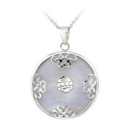 Glitzy Rocks Sterling Silver Lace Stone Blessing Necklace