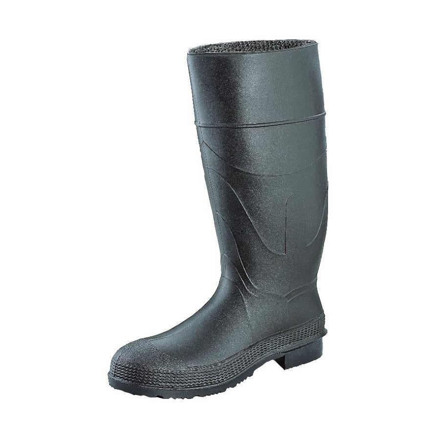 Servus 16-inch Black Knee PVC Angle Cleated Sole Boots