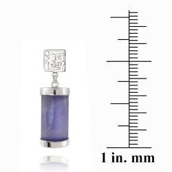 Glitzy Rocks Sterling Silver Lavender Jade Dangle Earrings - Thumbnail 2