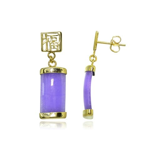 3d3094a457a21 Buy Jade Gemstone Earrings Online at Overstock | Our Best Earrings Deals