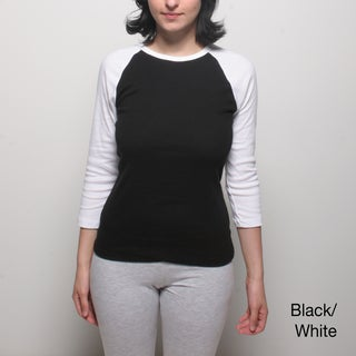 American Apparel Women's Baby Rib 3/4-sleeve Top