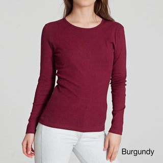 American Apparel Women's Baby Rib Long-sleeve Top