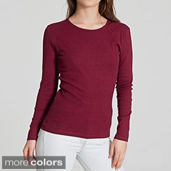 American Apparel Women's Baby Rib Long-sleeve Top