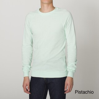 American Apparel Unisex Creme Pique Raglan Pullover Top