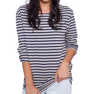 American Apparel Unisex Sailor Stripe Long Sleeve Pullover