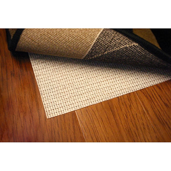 Sure Hold White PVC-coated Knit Polyester Rug Pad (5'6 Round)
