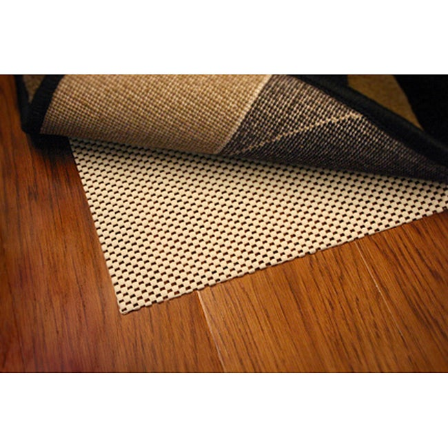Comfort Hold White PVC-coated Knit Polyester Rug Pad (5'6 Round)