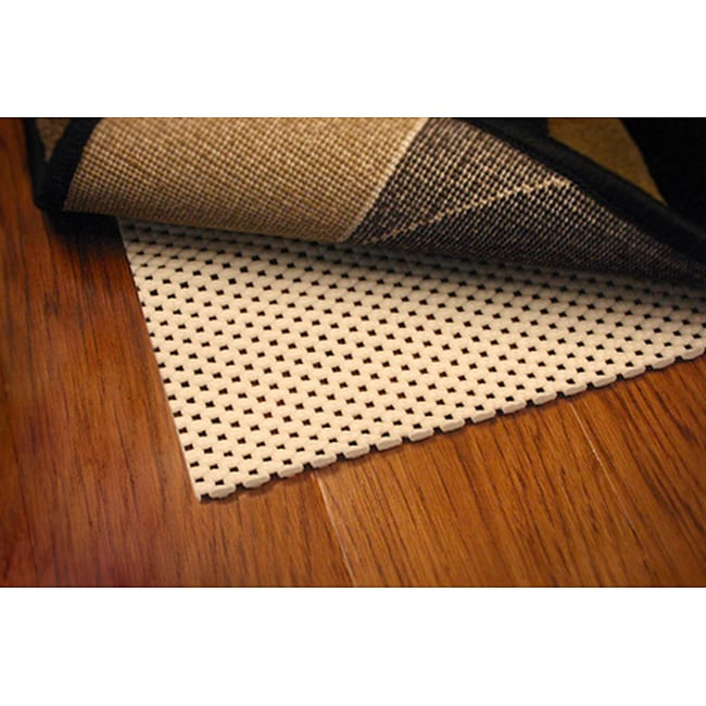 Ultra Hold White PVC-coated Knit Polyester Rug Pad (5'6 Round)