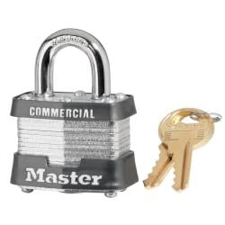 Master Lock Four-Pin Tumbler Steel Safety Padlock