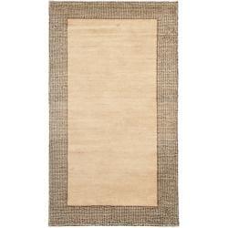 Safavieh Hand-knotted Gabeh Passage Beige Wool Rug (3' x 5')