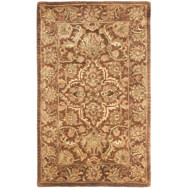 Safavieh Handmade Agra Rust Wool Rug (4' x 6')
