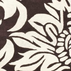 Safavieh Handmade Soho Brown/ Ivory New Zealand Wool Rug (2'6 x 12') - Thumbnail 2