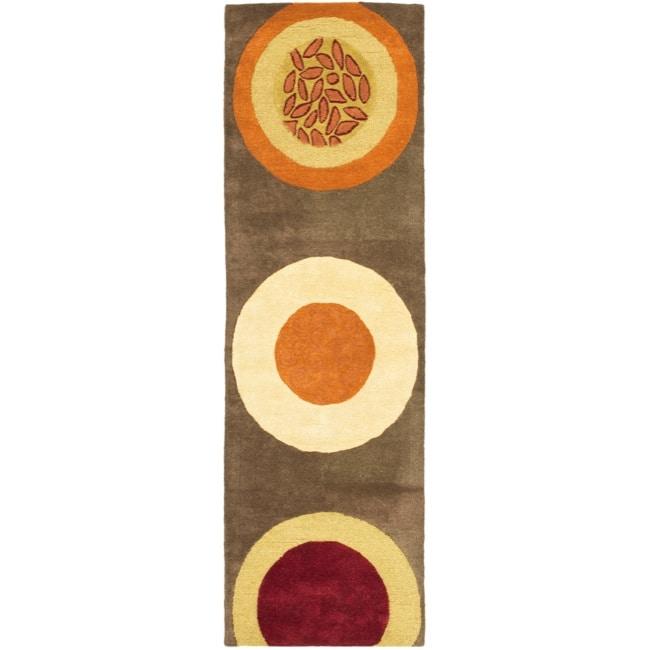 Safavieh Handmade Soho Brown/ Multi New Zealand Wool Rug (2'6 x 12')