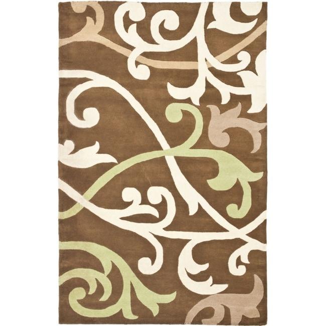 Safavieh Handmade Passage Brown New Zealand Wool Rug (3'6 x 5'6')