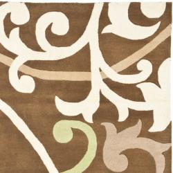 Safavieh Handmade Passage Brown New Zealand Wool Rug (3'6 x 5'6') - Thumbnail 1