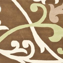 Safavieh Handmade Passage Brown New Zealand Wool Rug (3'6 x 5'6') - Thumbnail 2