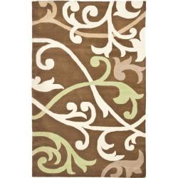 "Safavieh Handmade Passage Brown New Zealand Wool Rug - 3'6"" x 5'6"" - Thumbnail 0"