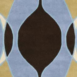 Safavieh Handmade Soho Modern Abstract Blue Wool Rug (3' 6 x 5' 6) - Thumbnail 2
