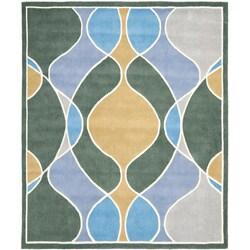 Safavieh Handmade Soho Modern Abstract Grey Wool Rug (5' x 8')
