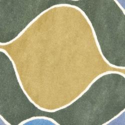 Safavieh Handmade Soho Modern Abstract Grey Wool Rug (6' x 6' Round)