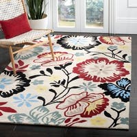 "Safavieh Handmade Garden Ivory New Zealand Wool Rug - 3'-6"" x 5'-6"""