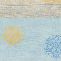 Safavieh Handmade Eternity Blue New Zealand Wool Rug (2'6 x 8') - Thumbnail 2