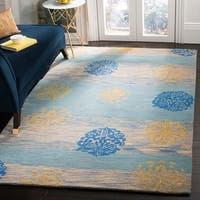 Safavieh Handmade Eternity Blue New Zealand Wool Rug - 5' x 8'