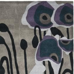 Safavieh Handmade Soho Modern Abstract Grey/ Blue Wool Rug (3' 6 x 5' 6) - Thumbnail 1