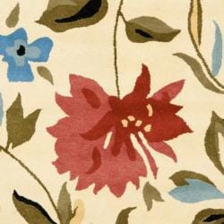 Safavieh Handmade Summer Ivory New Zealand Wool Rug (3'6 x 5'6') - Thumbnail 2