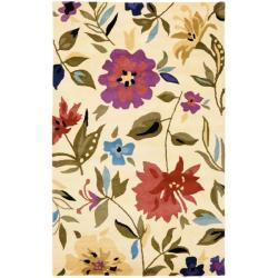 Safavieh Handmade Summer Ivory New Zealand Wool Rug - 3'6 x 5'6 - Thumbnail 0