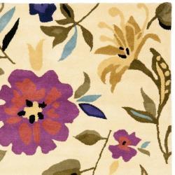 Safavieh Handmade Summer Ivory New Zealand Wool Rug (7'6 x 9'6) - Thumbnail 1