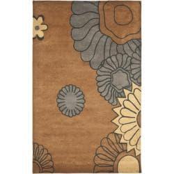Safavieh Handmade Fall Brown New Zealand Wool Rug (3'6 x 5'6')