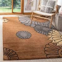 Safavieh Handmade Fall Brown New Zealand Wool Rug - 5' x 8'