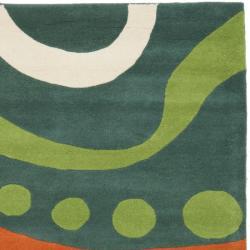 Safavieh Handmade Journey Teal New Zealand Wool Rug (7'6 x 9'6)