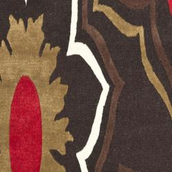 Safavieh Handmade Memories Brown New Zealand Wool Rug (2'6 x 8') - Thumbnail 2