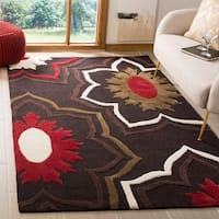 Safavieh Handmade Memories Brown New Zealand Wool Rug - 7'6 x 9'6