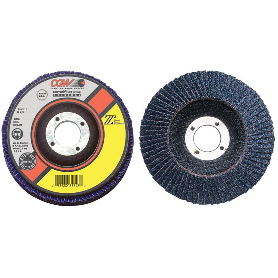 CGW Abrasives 7.5-Inch 100-Percent Zirconia Z3-40 Flap Discs
