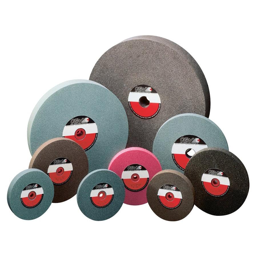 CGW Abrasives 8 inch x 1 x 1 1/4 inch Brown Aluminum Oxide Benchwheel