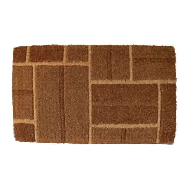 Shop Coir Outdoor Yellow Brick Door Mat 24 X 48 Free