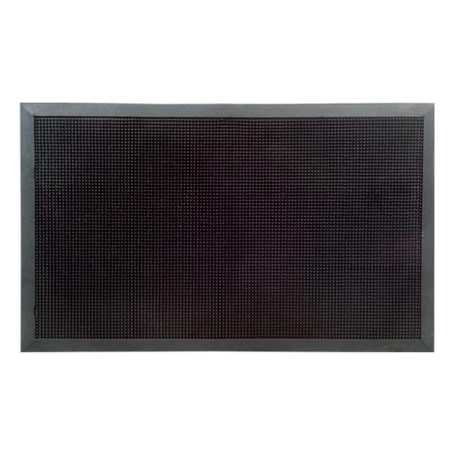 Exceptional XXL Outdoor Black Rubber Stud Door Mat (32 X 48)
