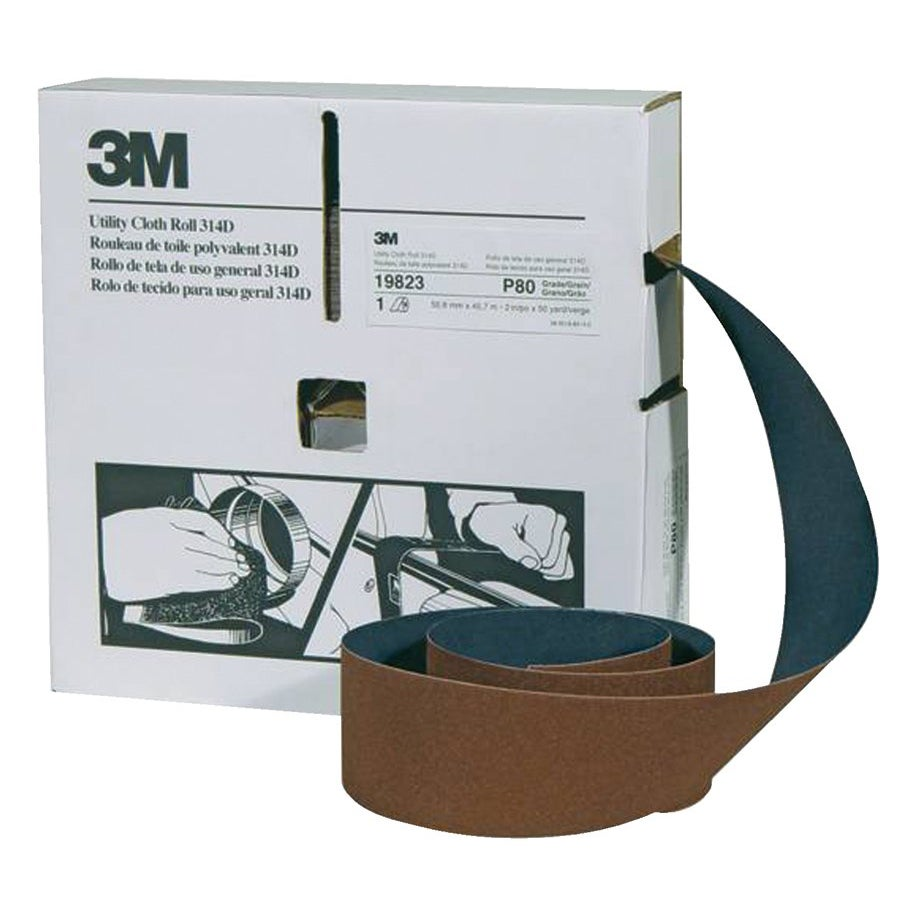 3M P120-grit Utility Cloth Roll - Thumbnail 0