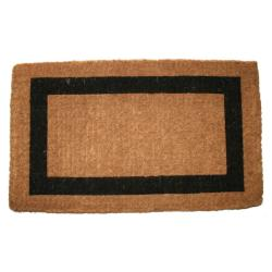 Coir Outdoor Single Black Border Door Mat (36 x 60)