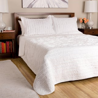 Greenland Home Fashions White Ruffled 3-piece Quilt Set (3 options available)