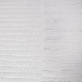 Link to Greenland Home White Ruffled Oversized Cotton Quilt Set Similar Items in Quilts & Coverlets