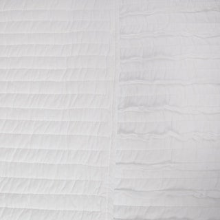 Greenland Home Fashions White Ruffled 3-piece Quilt Set