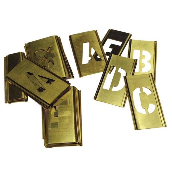 C.H. Hanson 33-piece Brass Letter Stencil Set (2 inches)