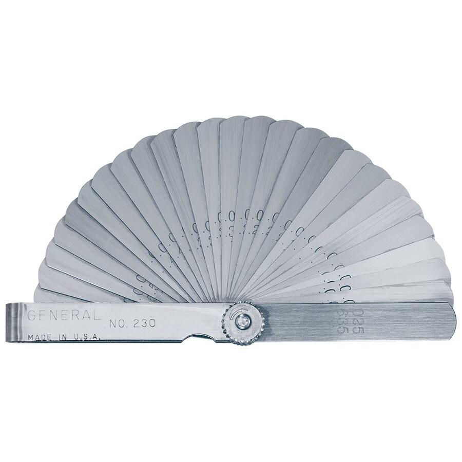 General Tools 26-Leaf 3-inch Feeler Gage, Silver steel
