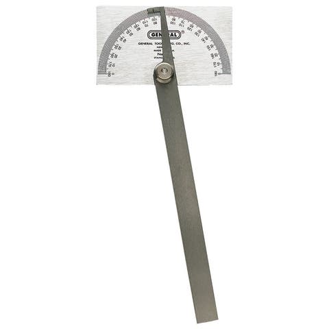 General Tools Square Head Stainless Steel Protractor
