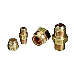 Western Enterprises Brass SAE Flare Tubing Connections